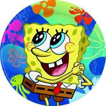 Piatto Grande Spongebob 23 cm - 6 pz