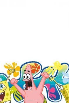 Tovaglia di carta Spongebob 120 x 180 cm - 1 pz
