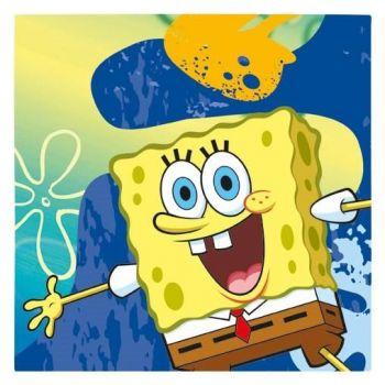 Tovaglioli Spongebob 33 x 33 cm - 16 pz