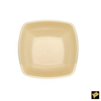 Piatto Fondo Linea Square Gold Plast Panna 18 x 18 cm 25 pz