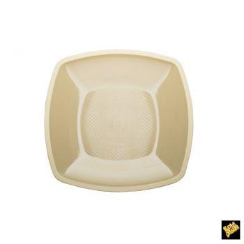 Piatto Grande Linea Square Gold Plast Panna 23 x 23 cm 25 pz
