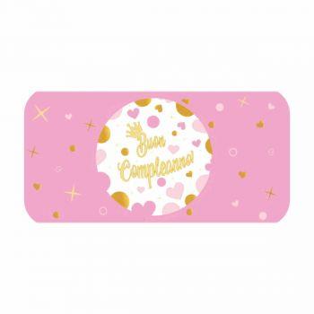 20 Etichette adesive Buon Compleanno 21 x 5 cm