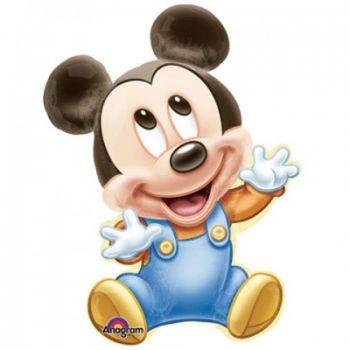 Pallone Foil Super Shape Baby Mickey 32 x 81 cm - 1 pz