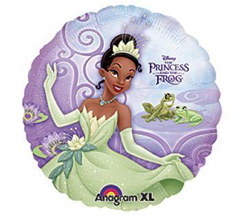 Pallone foil la principessa Tiana e la rana 45 cm