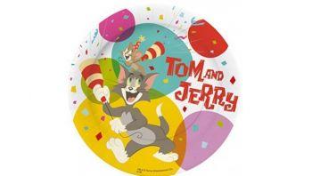10 Piatti Piccoli 18 cm Tom & Jerry
