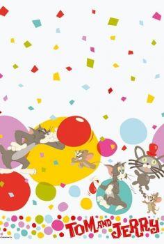 Tovaglia di carta  120 x 180 cm Tom & Jerry