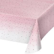 Tovaglia in plastica Rosa a Pois 137 x 259 cm - 1 pz
