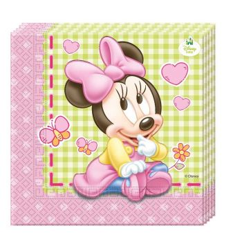 Tovaglioli baby Minnie doppio velo 33 x 33 cm 20 pz