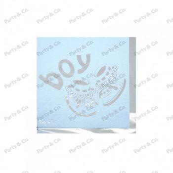 Tovaglioli Baby Boy Silver 2 veli 33 x 33 cm 20 pezzi