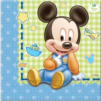 Tovaglioli in carta Baby Mickey 33 x 33 cm 20 pezzi