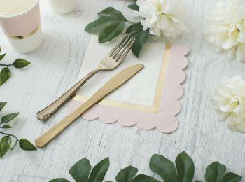Tovaglioli carta rosa/oro