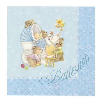 Tovaglioli Baby bears azzurro