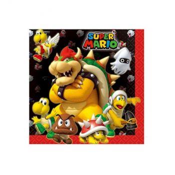Super Mario Bros 16 tovaglioli 33 x 33 cm