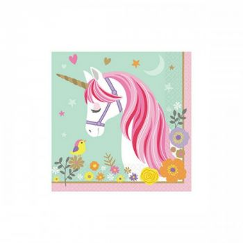 Tovagliolo magical unicorn 33 x 33 cm