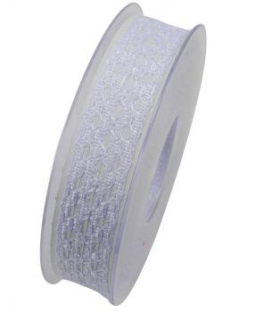 Nastro da Vinci frizzante 25 mm bianco