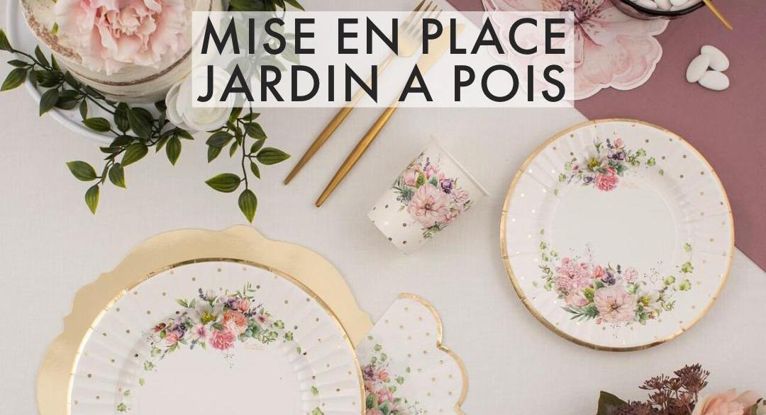 Jardin a pois coordinato tavola